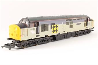 """L204735 Class 37 37702 """"Taff Merthyr"""" in Railfreight Coal grey"""