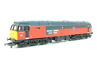 """L204739 Class 47 47726 """"Manchester Airport Progress"""" in Rail Express Systems livery"""