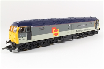 "L204759 Class 47 47348 '""St. Christopher's Railway Home"" in Railfreight grey"