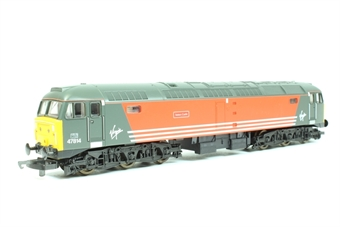 "L204761 Class 47 47814 ""Totnes Castle"" in Virgin livery"