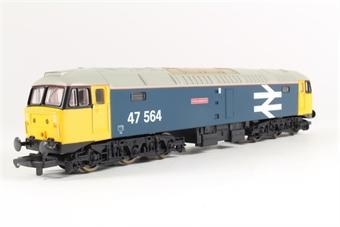 L204774 Class 47 47564 Collosus in BR Large Logo blue