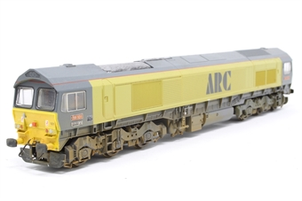L204851-PO01 Class 59 59101 Village of Whatley in ARC yellow - Pre-owned - detailed with driver and buffer beam pipework - weathered- imperfect box