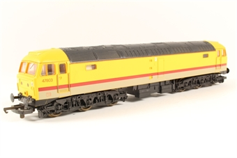 L204853 Class 47 Diesel 47803 in Infrastructure Yellow - Hattons/Greenyards special edition
