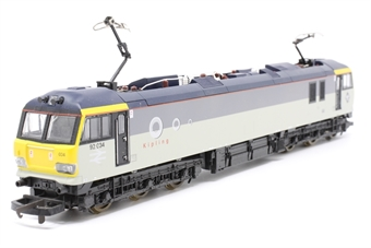 L204884a-PO02 Class 92 92034 'Kipling' in Railfreight Grey - Pre-owned - missing buffers