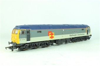 L204889 Class 47 47375 Tinsley Traction Depot in Railfreight Distribution grey