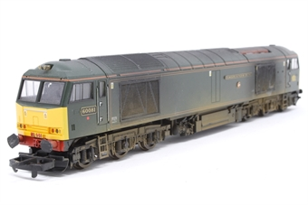 L204909-PO05 Class 60 60081 Isambard Kingdom Brunel in GWR green limited edition of 1000 - Pre-owned - detailed with buffer beam pipework and snow plough- weathered