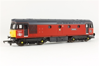 L204911 Class 33 33021 Eastleigh in BR Post office red