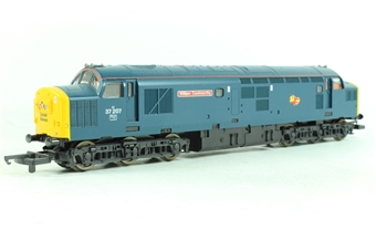 "L205033-37207 Class 37 37207 in BR Blue with Cornish Railways logo ""William Cookworthy"""