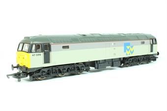 L205034-47599 Class 47/4 47599 in Railfreight Metals