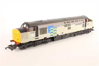 """L205034 Class 37 diesel 37890 """"The Railway Observer"""" in Railfreight 2 tone grey with Petroleum branding"""