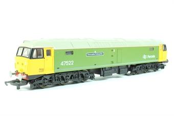 "L205042 Class 47/4 47522 ""Doncaster Enterprise"" in Parcels LNER green with flush both ends"