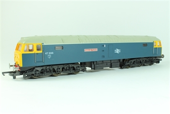 L205047 Class 47 47596 Aldeburgh Festival in BR Blue with grey roof