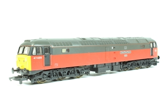 L205071 Class 47 47489 Crewe Diesel Depot in Parcels Red