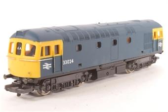 L205114b Class 33 33024 in BR blue