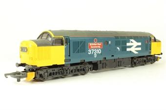"L205123 Class 37 37310 in BR Large Logo blue ""British Steel Ravenscraig"""