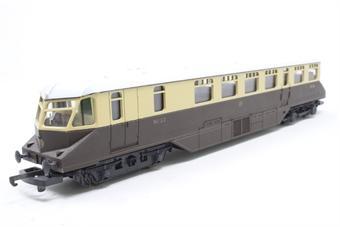 L205132-PO39 GWR Diesel Railcar No. 22 in Brown & Cream - Pre-owned - minor marks on body