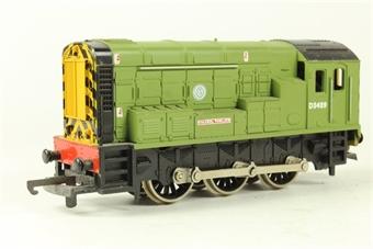 "L205151 Class 08 Diesel Shunter. D3489. Townsend Thoresen Light Green ""Colonel Tomline""."