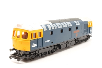 L205174-PO05 Class 33 33056 The Burma Star in BR Blue - Pre-owned - Missing buffers - broken buffer casing - missing coupling hook - scratches on body/roof - replacement box