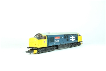 """L205176a Class 37 Diesel 37431 """"County of Powys"""" in BR large logo livery"""