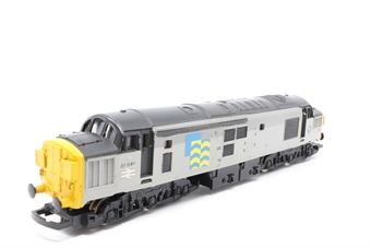 L205190a-PO03 Class 37 diesel 37081 'Loch Long' in BR large logo blue - Pre-owned - missing a coupling hook - marks on body- replacement box