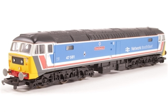 L205220a Class 47 47581 'Great Eastern' in original Network South East blue
