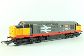 """L205231 Class 37 37502 """"British Steel Teeside"""" in Railfreight Red Stripe Livery"""