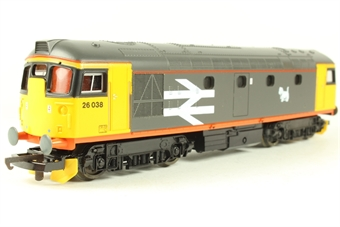 L205243 Class 26 Diesel. 26038 Railfreight Red Stripe Scottie motif