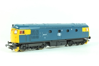 L205244 Class 26 26027 BR Blue with headcode discs and snowploughs.