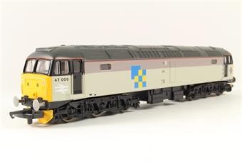 L205255a Class 47 47006 in Railfreight Construction
