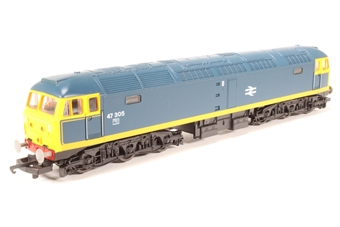 L205260-47305 Class 47 Diesel. 47305 Chemical blue with yellow stripe.