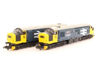 L205262B Class 37 37261 & 37262 Caithness/Dounreay in BR Large Logo blue limited edition of 300