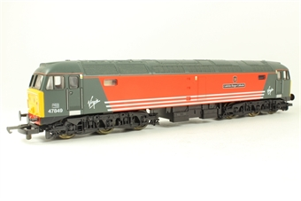 """L205268a Class 47 47849 in Virgin livery """"Cadeirlan Bangor Cathedral"""". Limited edition of 550"""