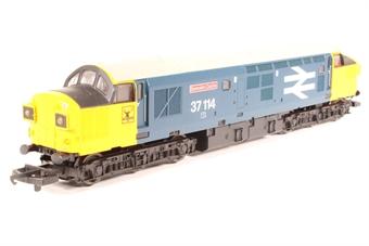 L205288 Class 37 37114 Dunrobin Castle in BR Large Logo blue