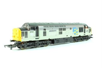 L205293 Class 37 37511 'Stockton Haulage' in Railfreight Metals Grey Livery