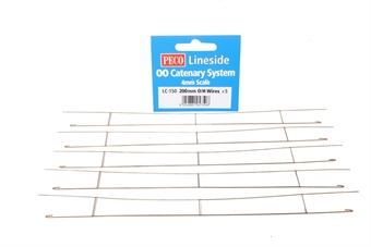 LC-150 200mm Wires x 5 for Peco Catenary system