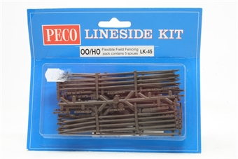 LK-45-PO05 Flexible field fencing. Approx 1066mm (42in). 5 pieces (replaced by LK-85) - Pre-owned - Like new, imperfect box