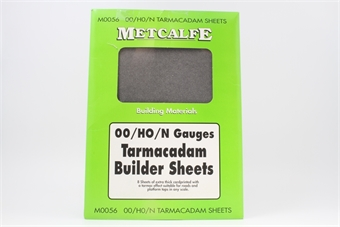 M0056-PO05 Tarmacadam Builder thick card sheets - Pack of 8 - Pre-owned - Like new, imperfect box