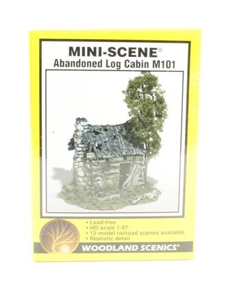 M101 Abandoned Log Cabin Mini-Scene