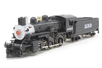 M800-PO 4-4-0 #233 of the Atchison, Topeka & Santa Fe Railroad - Pre-owned - Like new - imperfect box