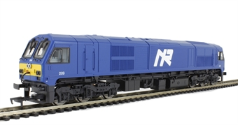 """MM0209 Class 201 no 209 """"River Foyle"""" in NIR Blue livery."""