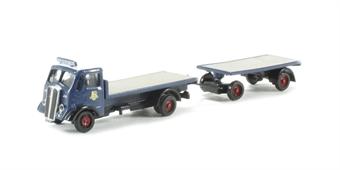 N037 AEC Matador flatbed & drawbar trailer 'Pickfords' (circa 1950-1960)