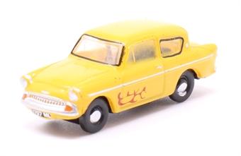 N105008 Ford Anglia Yellow (Vyv)