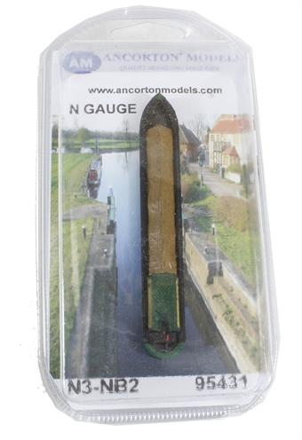 N3-NB2 Industrial Narrow Boat with tarpaulin