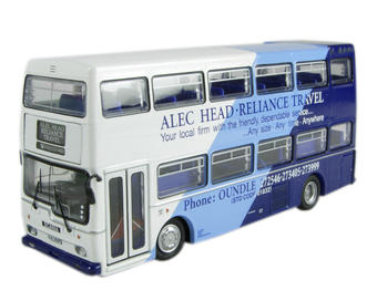"N6109B Scania Metropolitan d/deck bus ""Alec Head Coaches - Reliance Travel"" £7"
