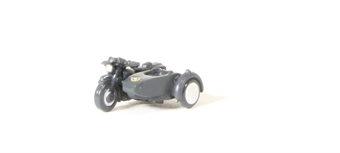 NBSA008 Motorbike and sidecar - Royal Air Force RAF blue