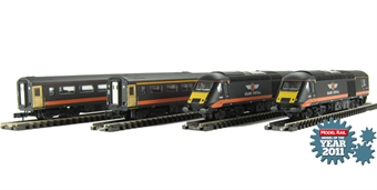 ND122e Class 43 HST Book Set in Grand Central Livery (new livery version with one dummy power car) £140