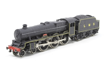NL-21-PO11 Jubilee Class 4-6-0 'Renown' 5713 in LMS Black - Pre-owned - sold as seen - missing buffer - hole in top of tender - damaged valve gears - imperfect box