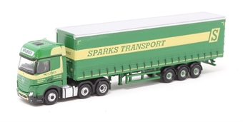 "NMB006 Mercedes Actros curtainside - ""Sparks Transport"""