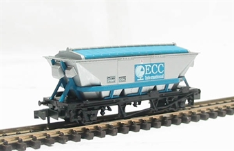 NR-305 CDA china clay hopper wagon in English China Clay silver and blue