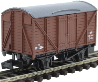 NR-43B 12 ton ventilated box van in BR Brown